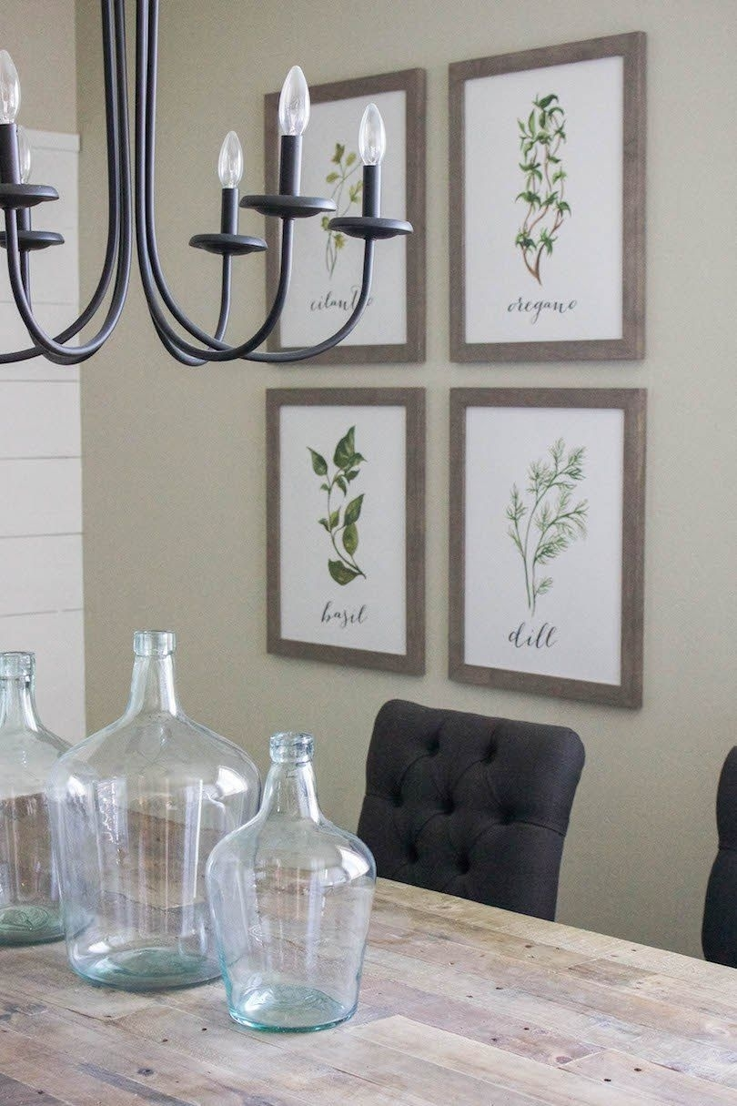 Modern Farmhouse Dining Room & Diy Shiplap | All Things Home In Dining Room Wall Art (View 18 of 20)