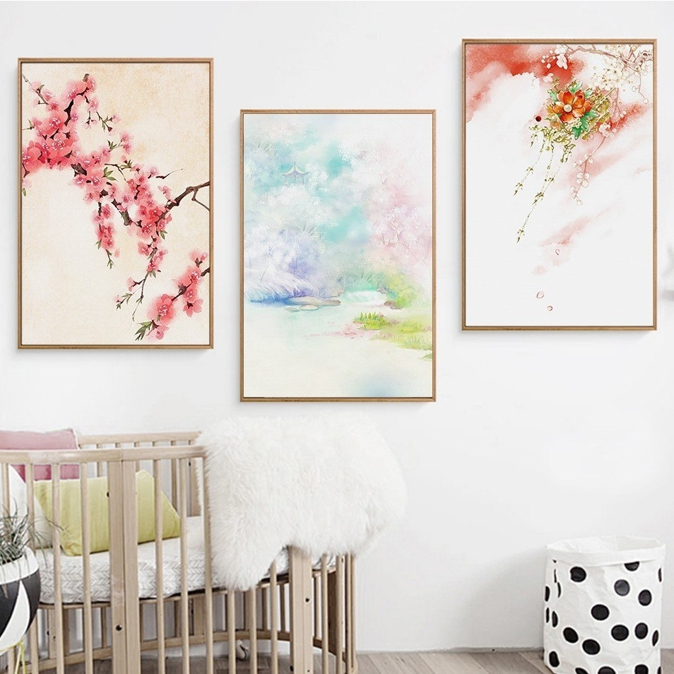 Modern Home Decor Japanese Wall Art Landscape Wall Pictures For within Japanese Wall Art (Image 16 of 20)