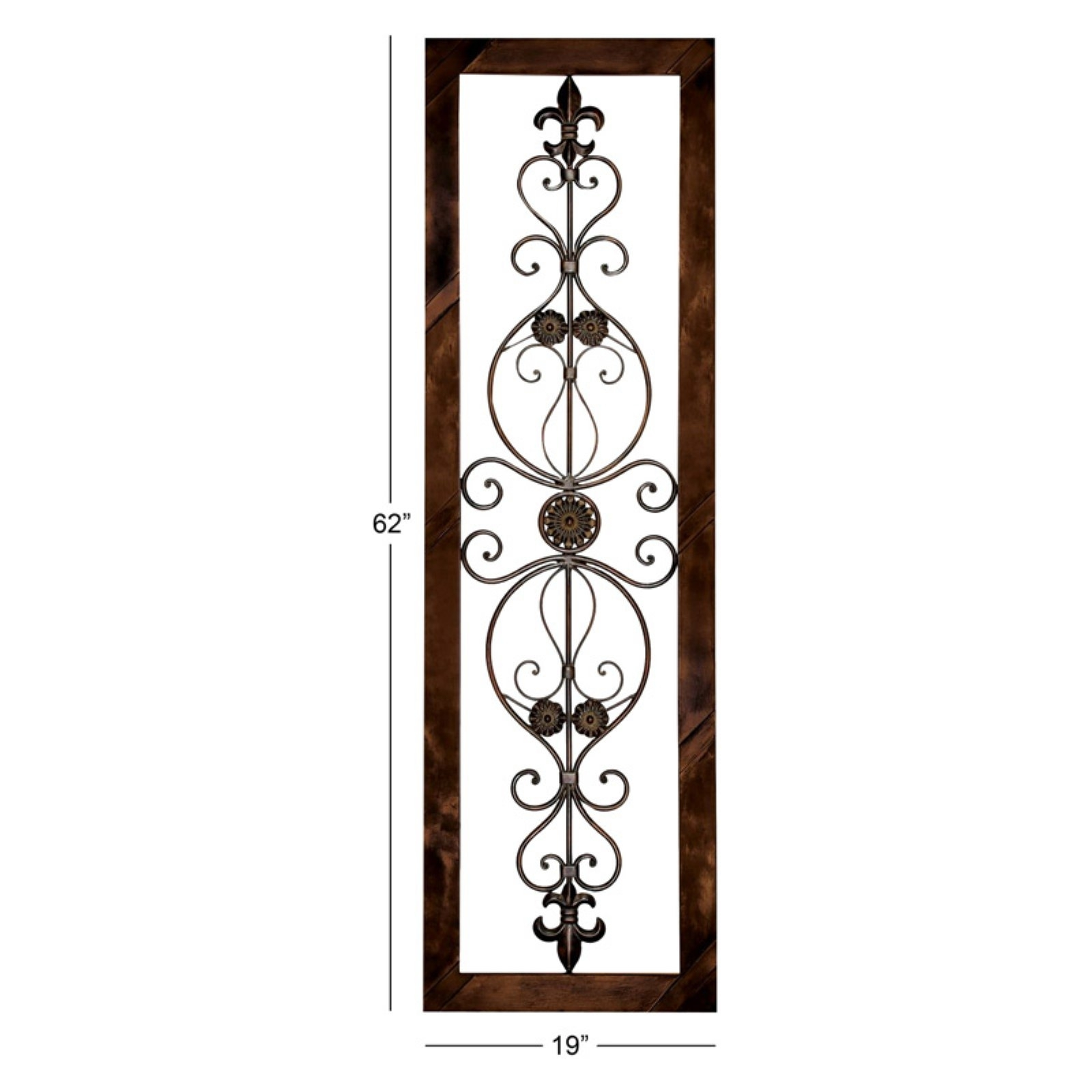 Modern Home Decor Metal Wall Plaque Unique Vertical Hanging Art Wall intended for Vertical Metal Wall Art (Image 8 of 20)