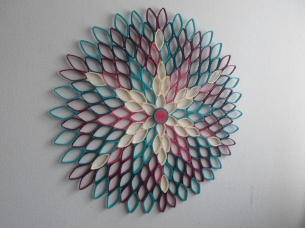 Modern Home Decor Round Wall Art Teal Wall Decor Modern Decor For Intended For Round Wall Art (View 17 of 20)