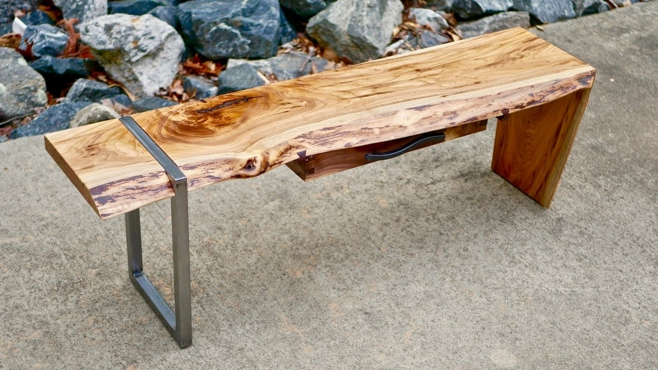 Modern Live Edge Waterfall Coffee Table Part 1 | How To Build in Waterfall Coffee Tables (Image 19 of 30)