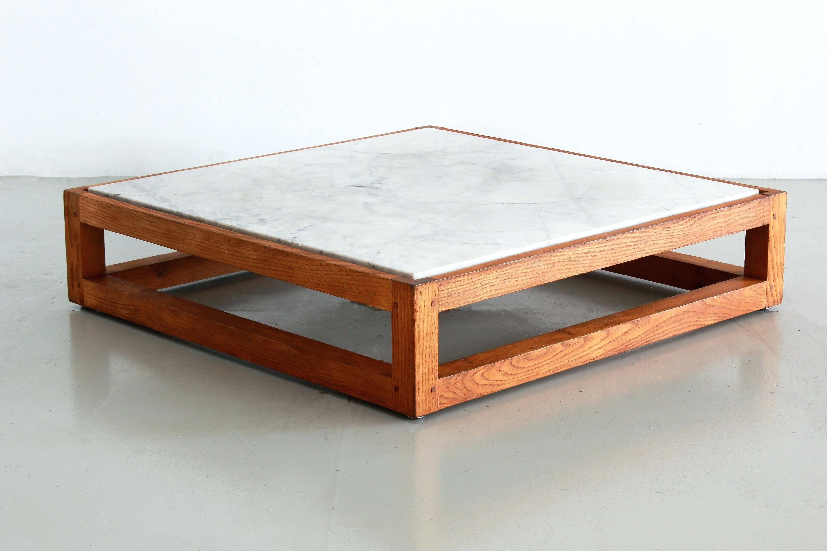 Modern Marble Coffee Table French And Oak Mid Century Top with regard to Mid-Century Modern Marble Coffee Tables (Image 26 of 30)