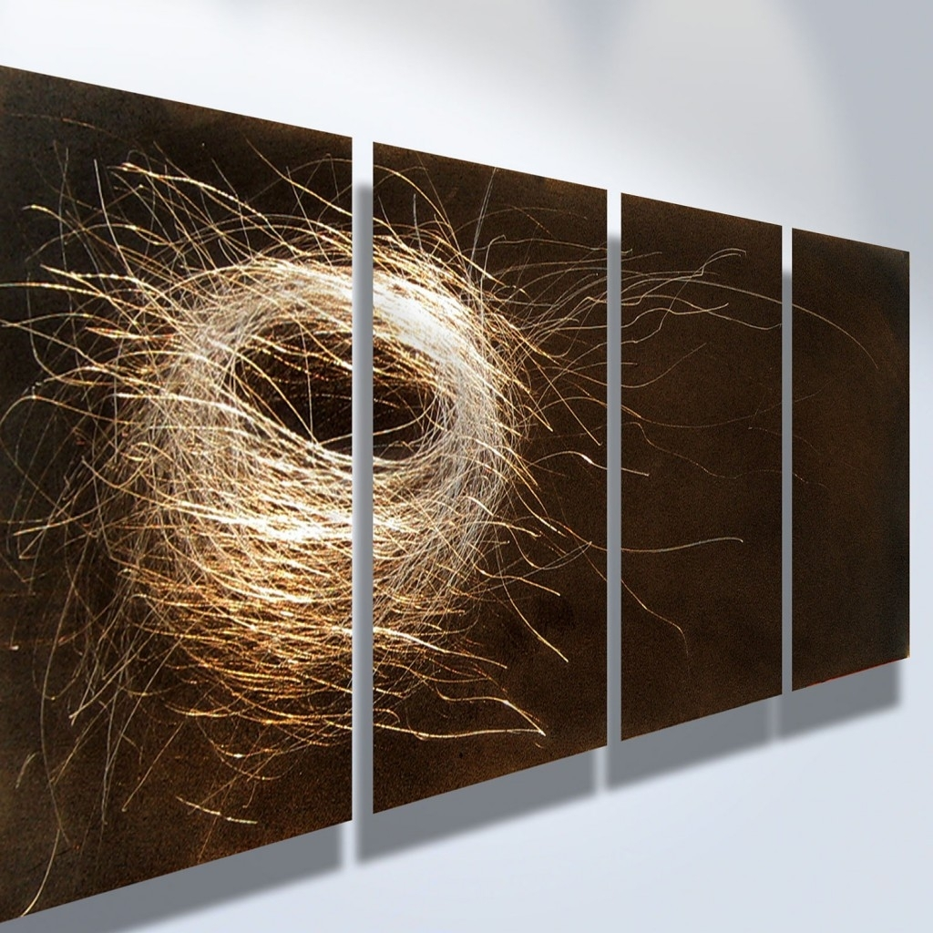 Modern Metal Wall Art Abstract Decor Contemporary Modern Sculpture in Modern Metal Wall Art (Image 10 of 20)