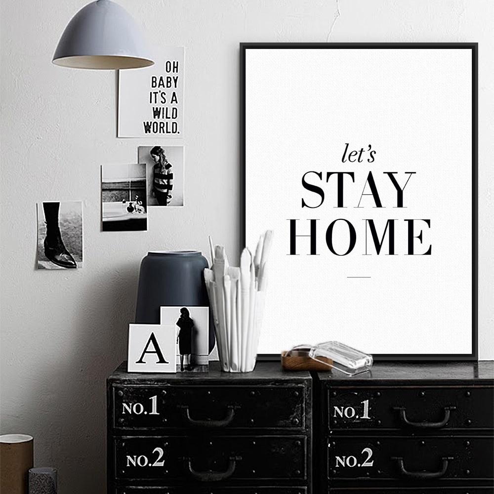 Modern Minimalist Living Room Wall Art Black White Inspirational regarding Black Wall Art (Image 12 of 20)