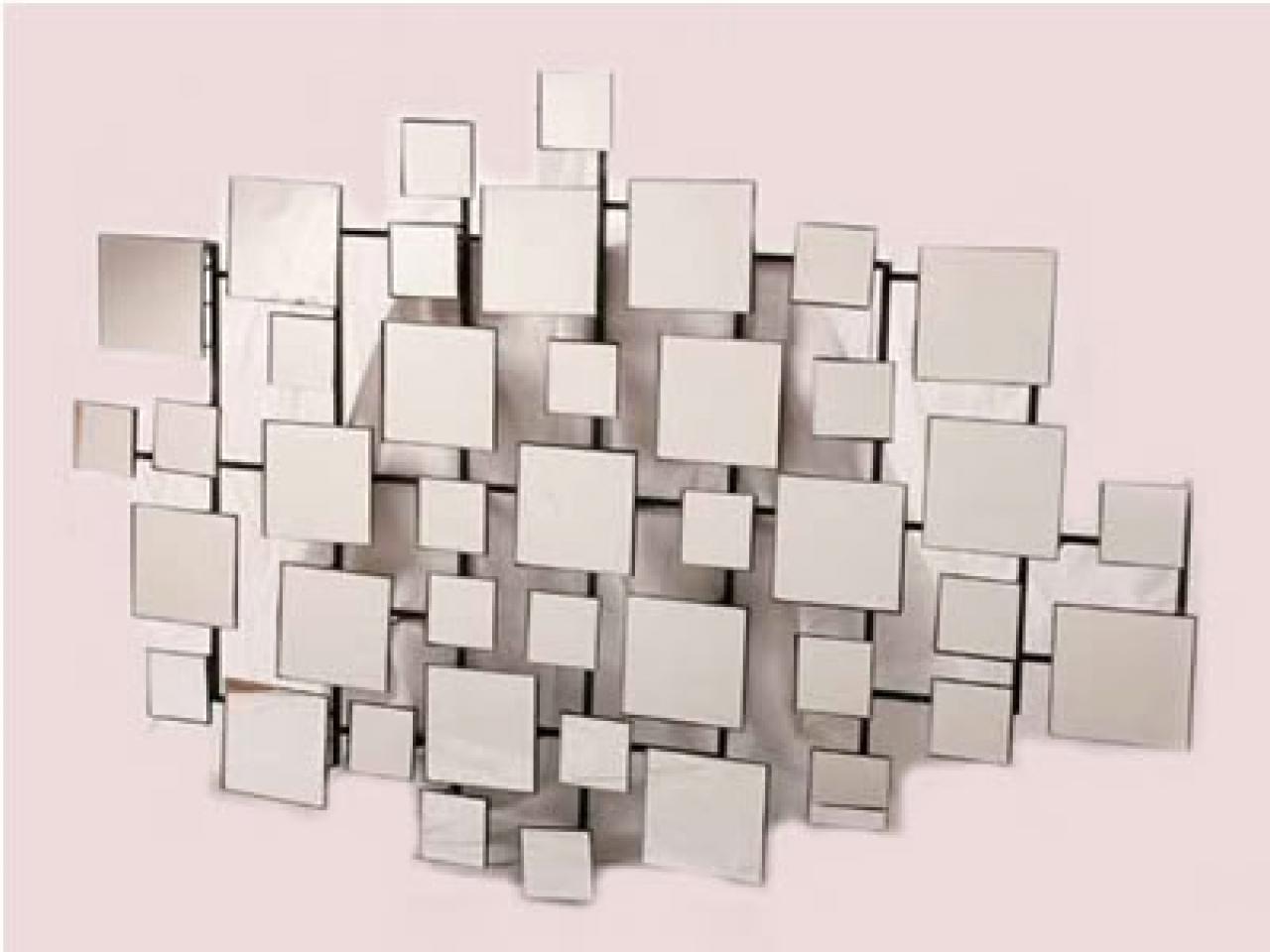Modern Mirrored Wall Art, Geometric Mirror Wall Art, Mirror Wall Art Regarding Mirrored Wall Art (View 19 of 20)