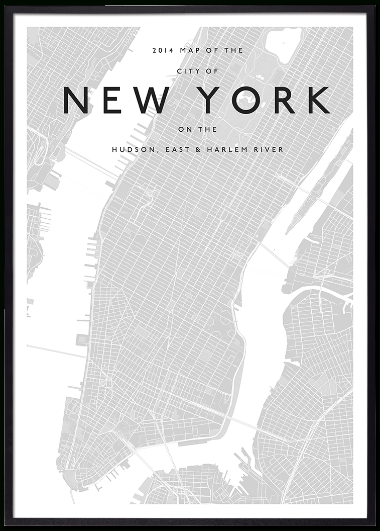 Modern New York Map | Interiors Wall Decor | Pinterest | City Maps In New York City Map Wall Art (View 9 of 20)