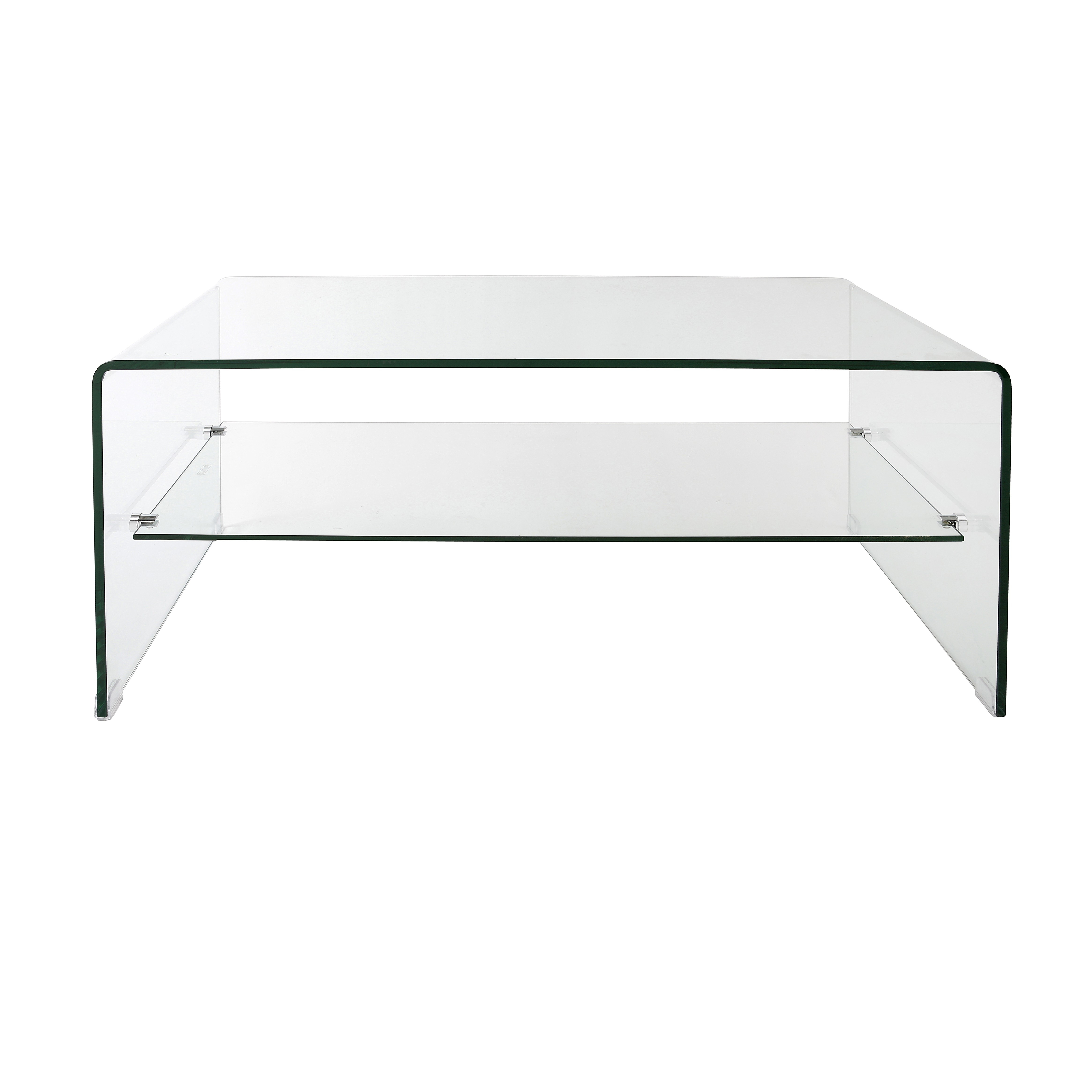 Modern Rectangle Clear Acrylic Coffee Table Come With Shelf Design regarding Modern Acrylic Coffee Tables (Image 24 of 30)