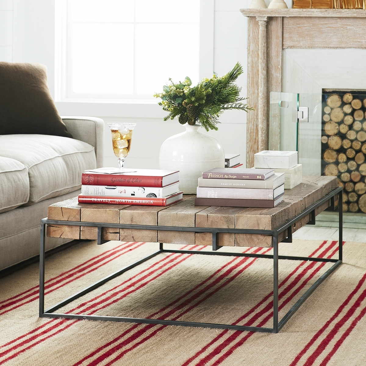 Modern Rustic Coffee Table | Wisteria With Large Scale Chinese Farmhouse Coffee Tables (View 24 of 30)