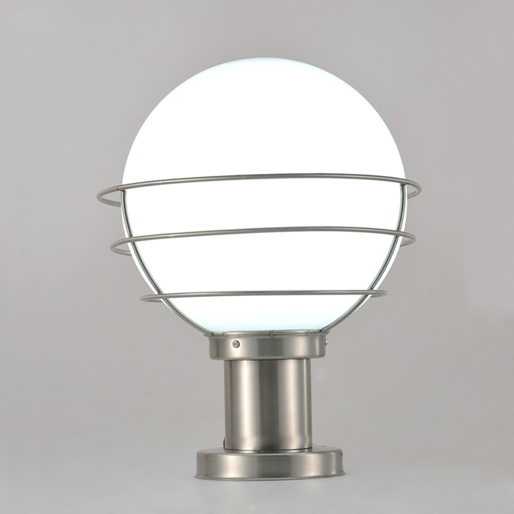 Modern Stainless Steel&acrylic Garden/yard/fence Lamp Pillar Light pertaining to Outdoor Pillar Lanterns (Image 5 of 20)