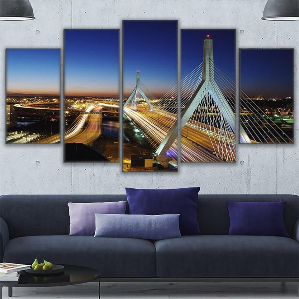 Modern Wall Art Canvas Hd Prints Painting Frame Modular Poster 5 In Boston Wall Art (View 6 of 20)
