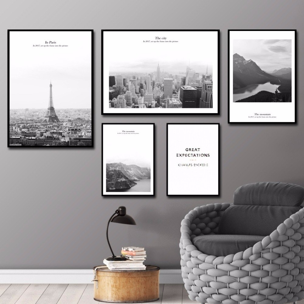 Modern Wall Art The City Paris Wall Pictures For Living Room Home with regard to Paris Wall Art (Image 13 of 20)