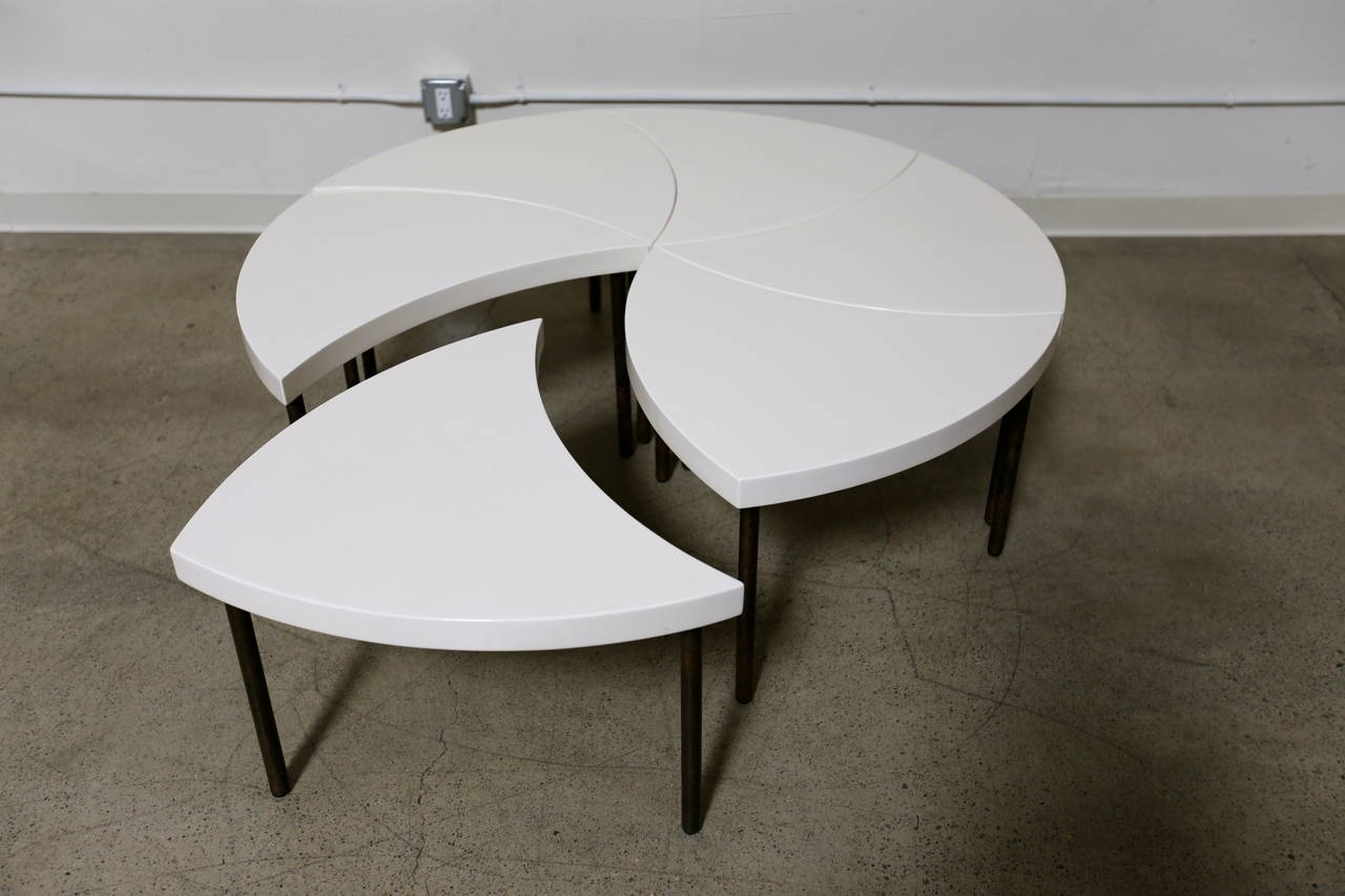 "Modernist Modular ""pinwheel"" Coffee Table For Sale At 1Stdibs pertaining to Modular Coffee Tables (Image 9 of 30)"