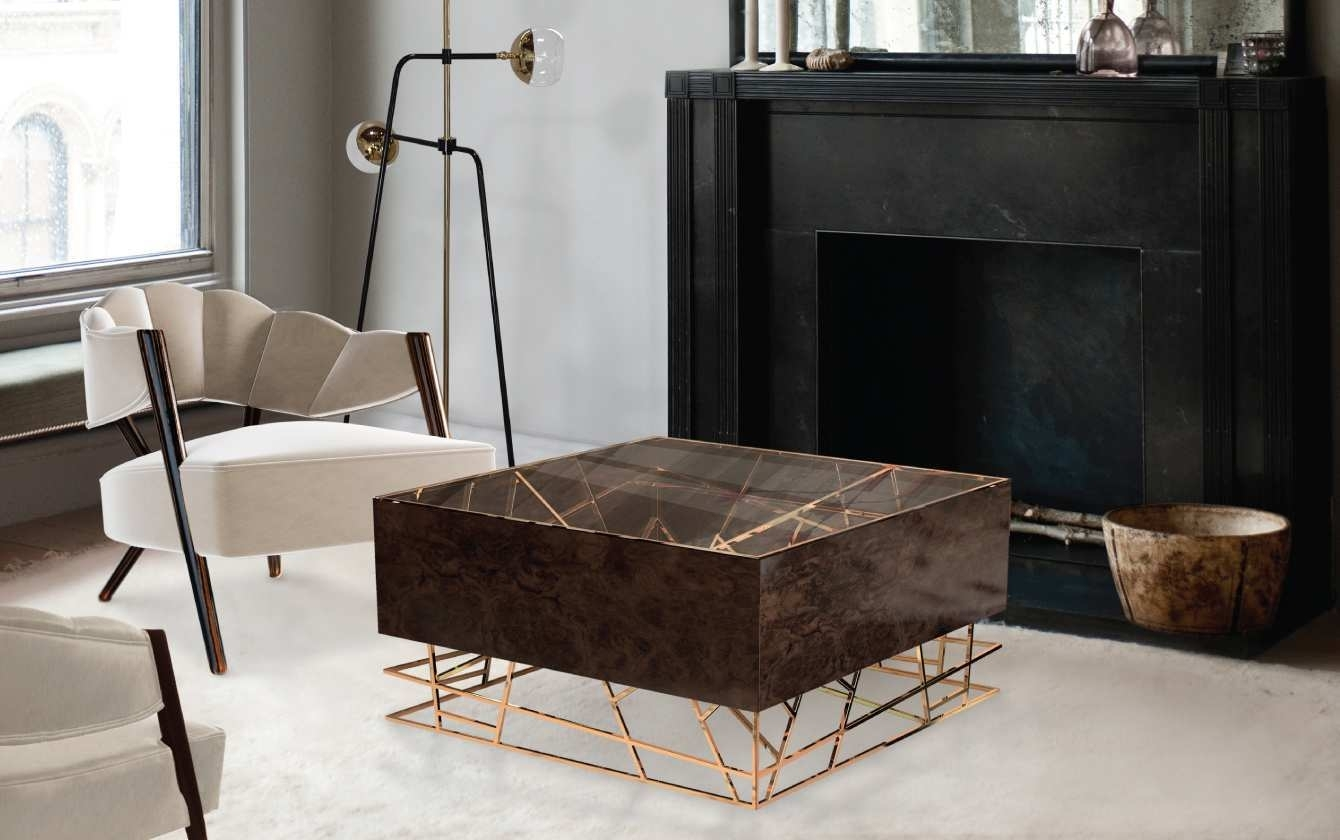 Modrest Kingsley Modern Marble Rosegold Coffee Table Coffee With within Modern Marble Iron Coffee Tables (Image 23 of 30)