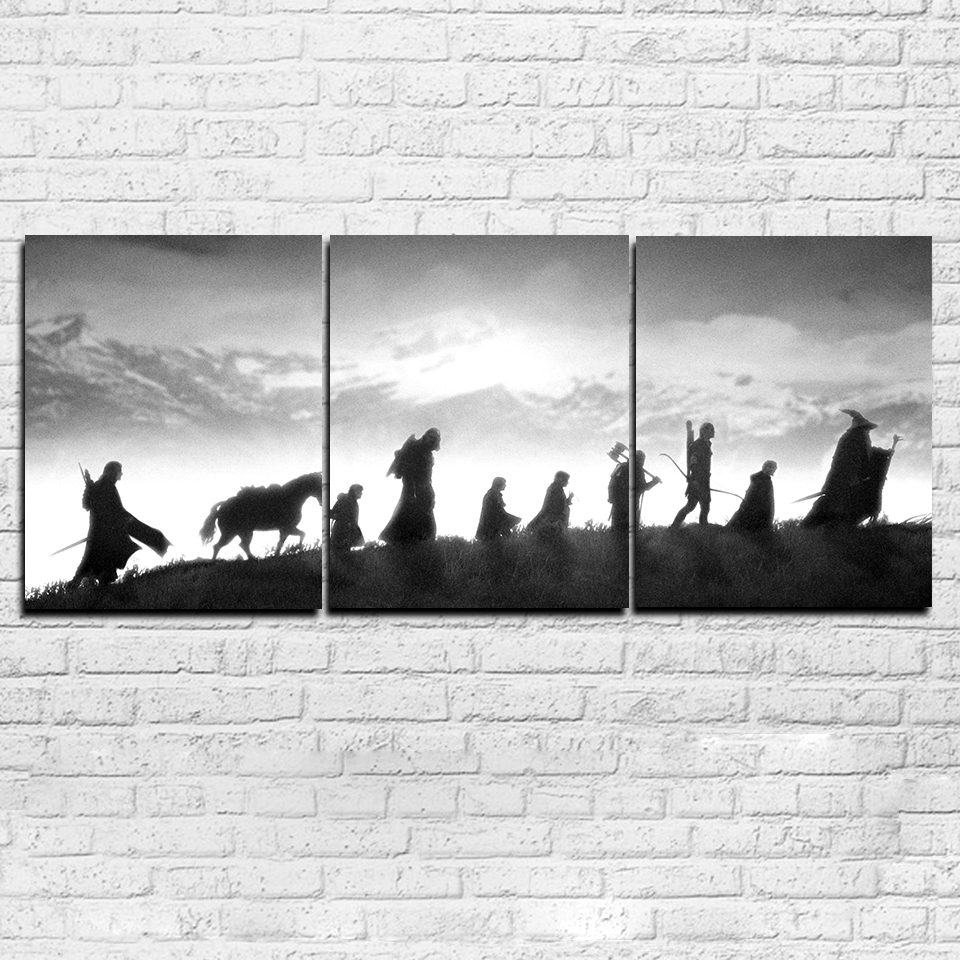 Modular Canvas Pictures Wall Art Living Room Decor Hd Prints 3 inside Lord Of The Rings Wall Art (Image 15 of 20)