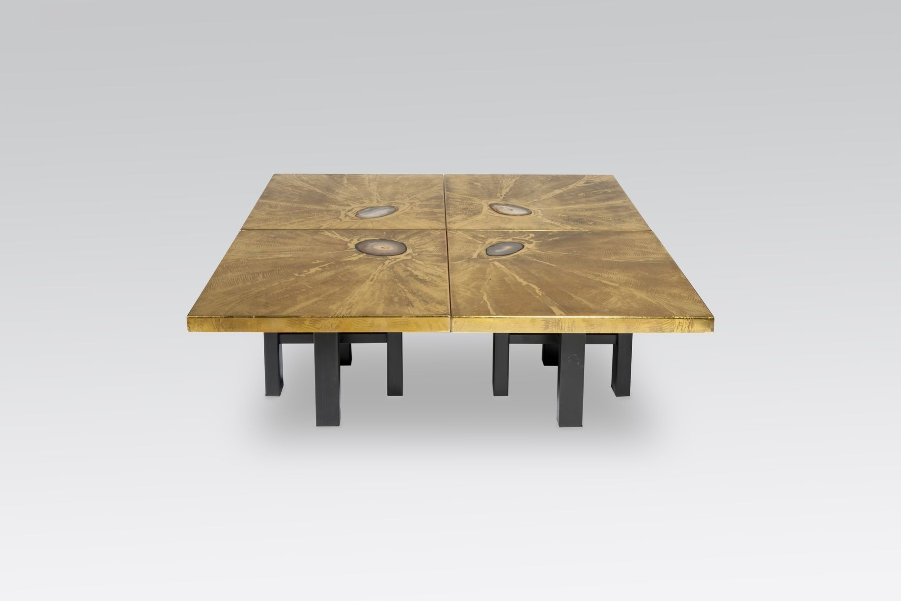 Modular Coffee Tables With Brass Engravings & Agate Inlayslova for Modular Coffee Tables (Image 19 of 30)