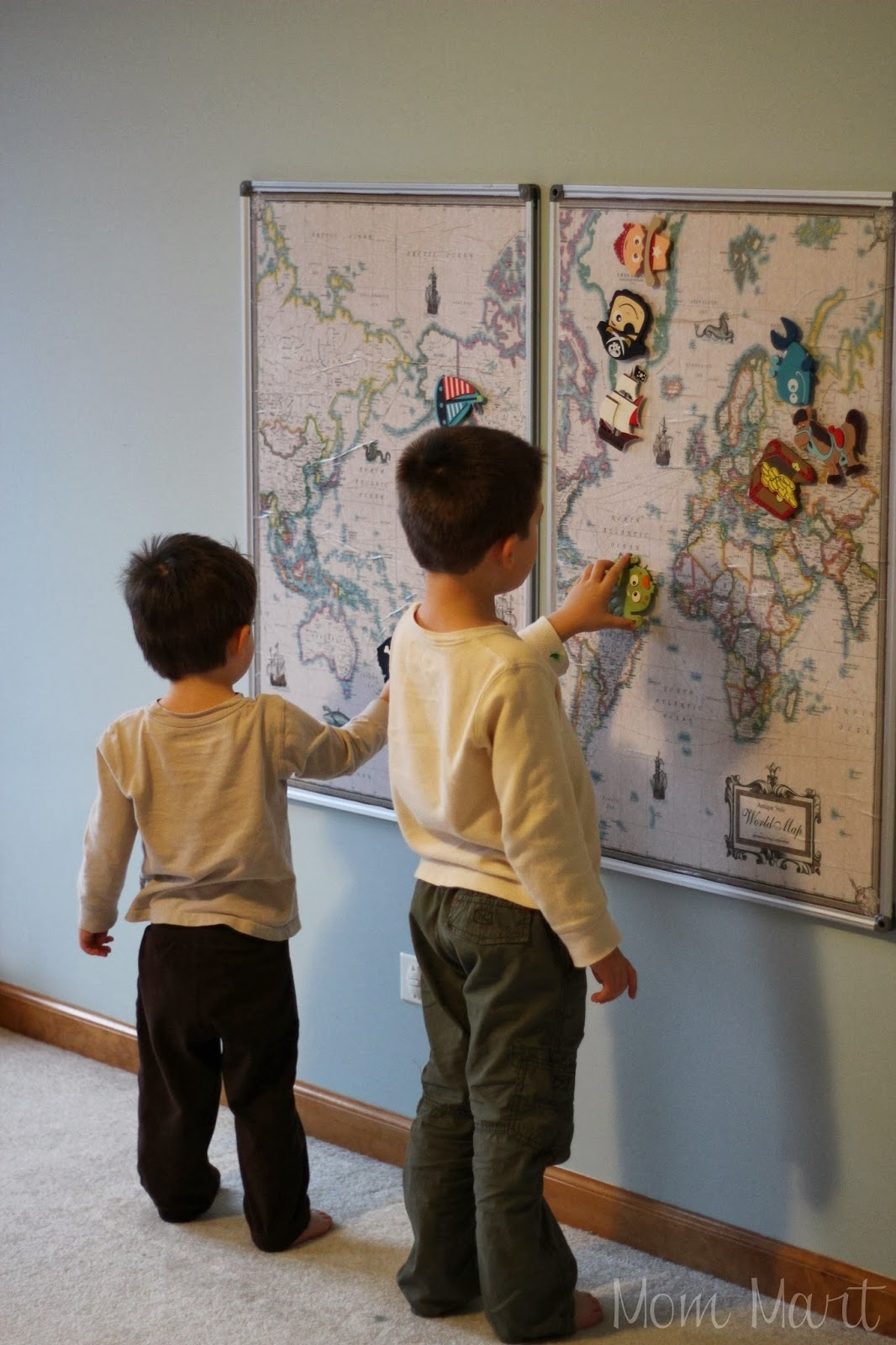 Mom Mart: Diy Magnetic World Map Wall Art Project regarding Diy World Map Wall Art (Image 15 of 20)