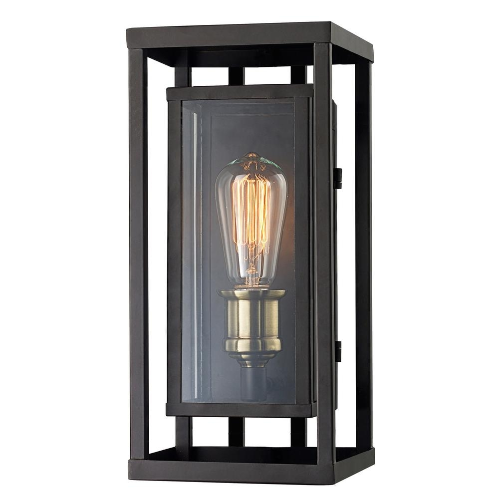 Monteaux Lighting Retro 1-Light Oil Rubbed Bronze And Antique Brass for Antique Outdoor Lanterns (Image 10 of 20)