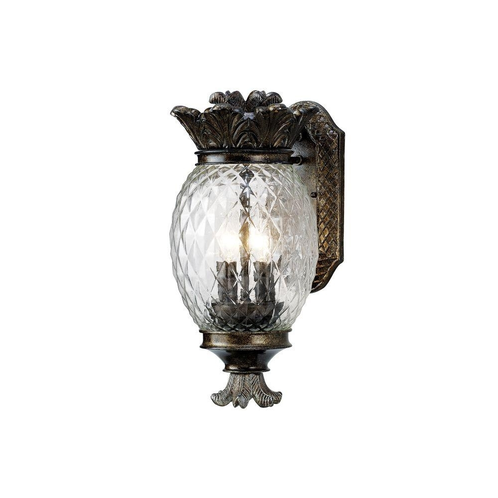 Monteaux Lighting Wall-Mount Bronze Outdoor Small Pineapple Coach with Outdoor Pineapple Lanterns (Image 10 of 20)