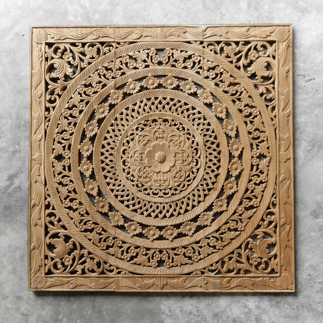Moroccan Decent Wood Carving Wall Art Hanging Siam Sawadee, Carved In Moroccan Wall Art (View 19 of 20)