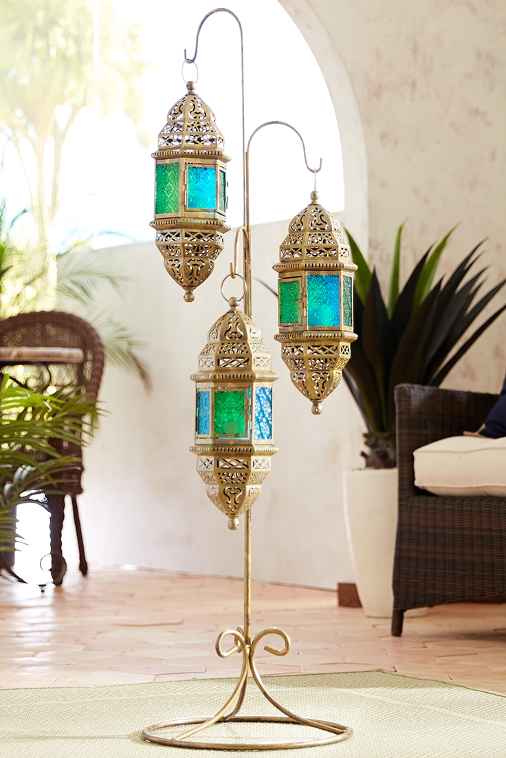 Moroccan Hanging Floor Lanterns | Light 'em Up | Pinterest | Floor regarding Moroccan Outdoor Electric Lanterns (Image 12 of 20)