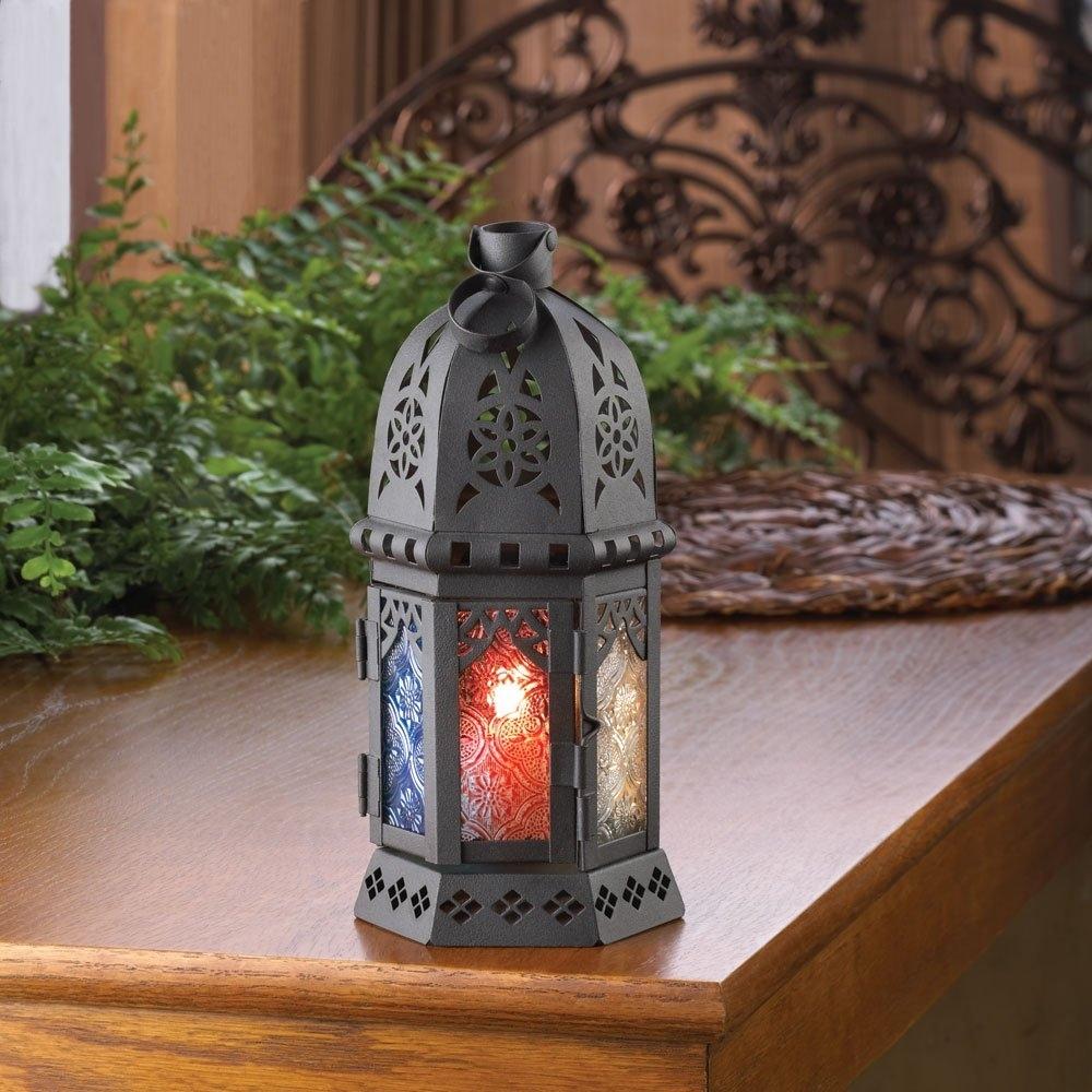 Moroccan Lantern Candle, Iron Outdoor Lanterns Moroccan Decor within Moroccan Outdoor Lanterns (Image 13 of 20)