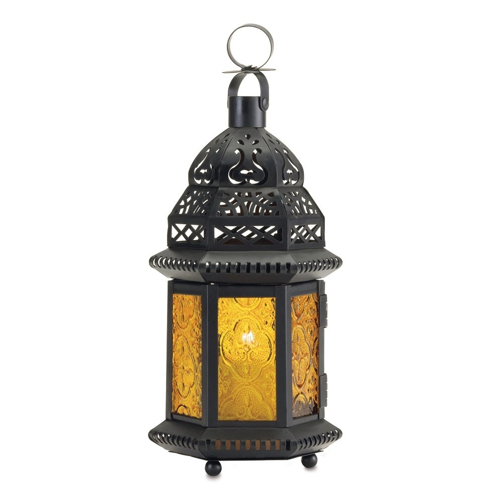 Moroccan Lantern Holder, Decorative Moroccan Lanterns Outdoor pertaining to Yellow Outdoor Lanterns (Image 17 of 20)