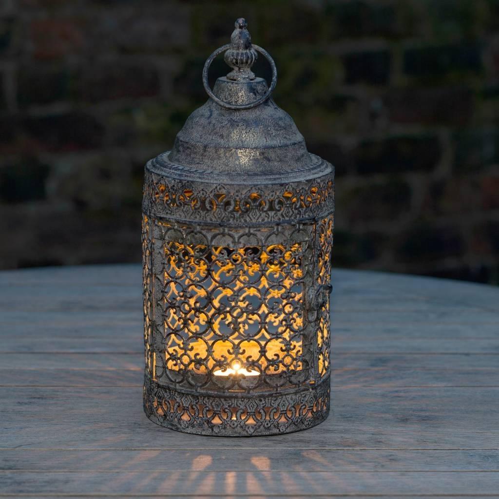 Moroccan Style Lattice Candle Lanternthe Flower Studio regarding Outdoor Turkish Lanterns (Image 13 of 20)