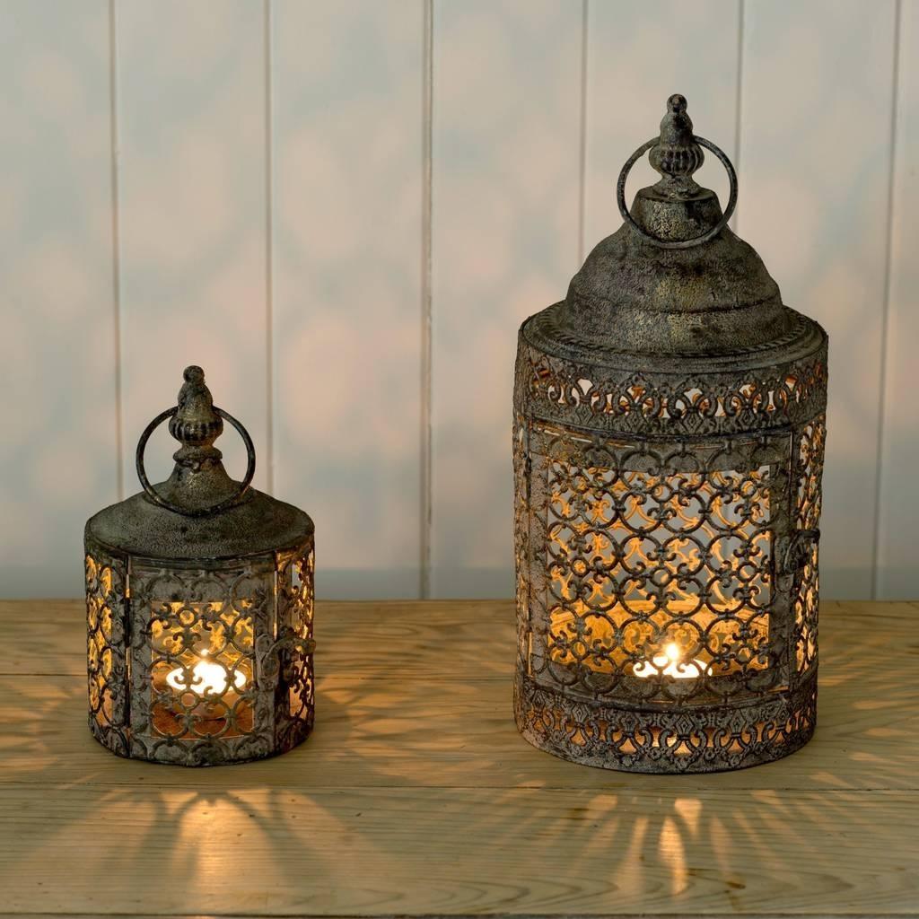 Moroccan Style Lattice Candle Lanternthe Flower Studio Within Outdoor Turkish Lanterns (View 14 of 20)