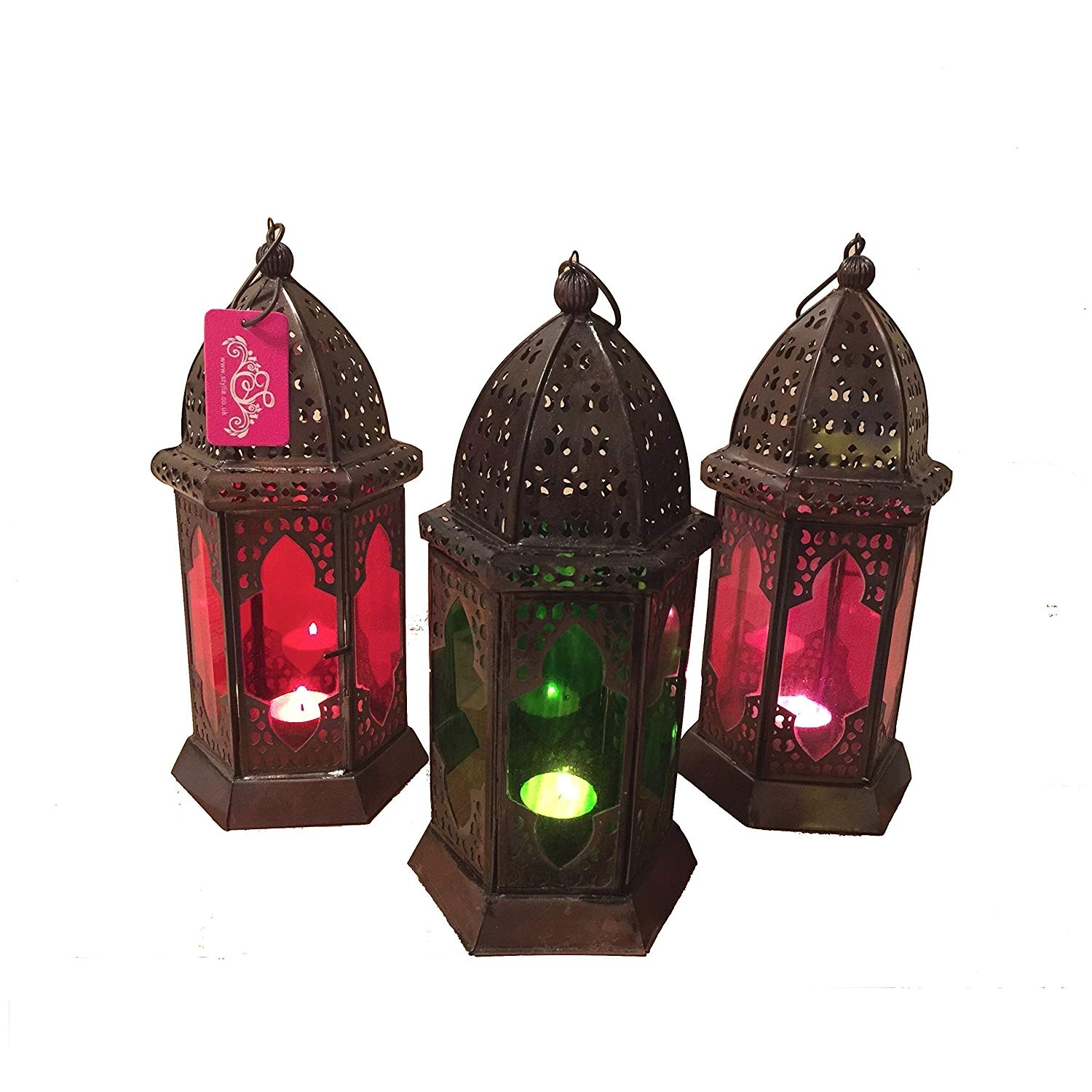 Moroccan Vintage Lantern Lights Lamp Ziva 30Cm Gold Large | Oriental for Outdoor Indian Lanterns (Image 15 of 20)