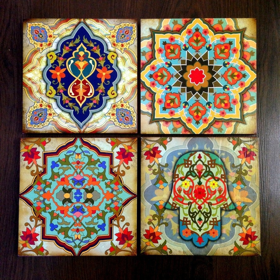 Moroccan Wall Art - Elitflat pertaining to Moroccan Wall Art (Image 9 of 20)
