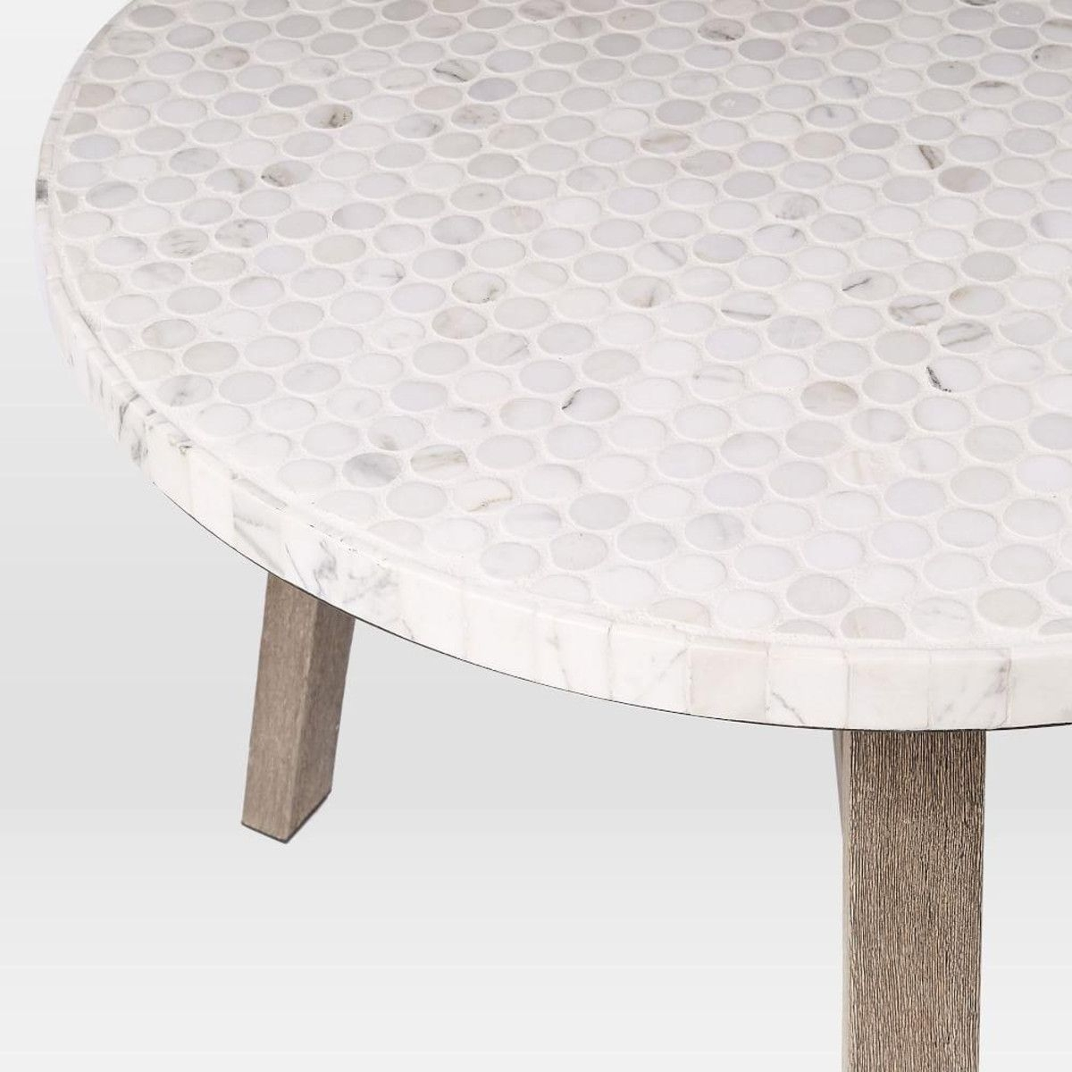 Mosaic Bistro Table - White Marble | Outdoor Area | Pinterest intended for Intertwine Triangle Marble Coffee Tables (Image 19 of 30)