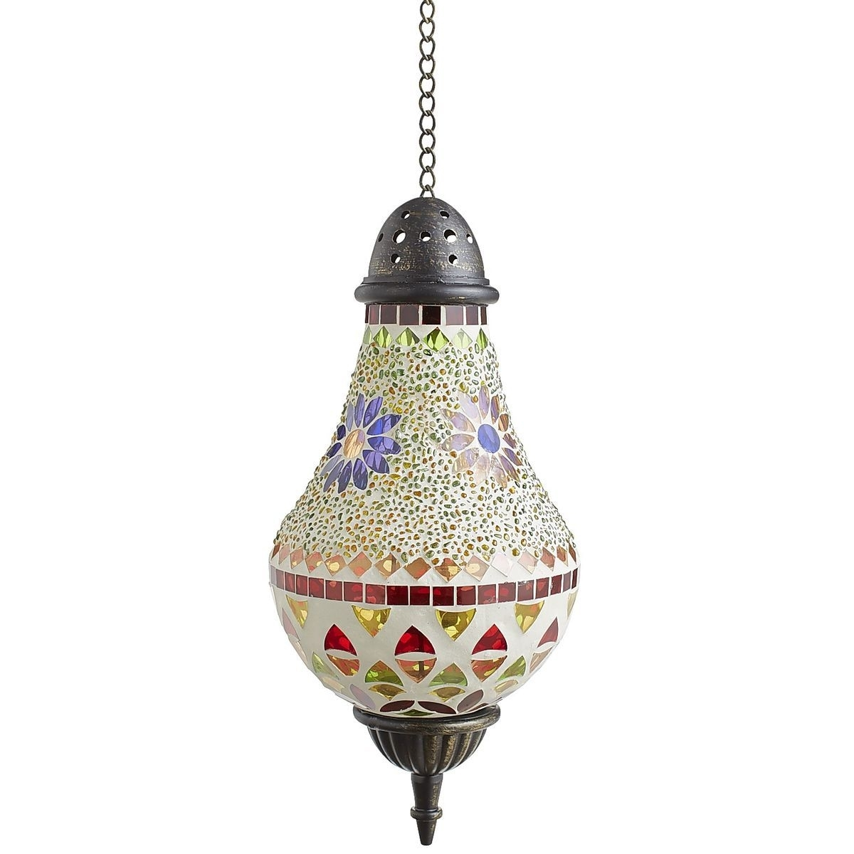 Mosaic Flower Hanging Lantern | Pier 1 Imports | Dream Home Throughout Outdoor Mosaic Lanterns (View 11 of 20)