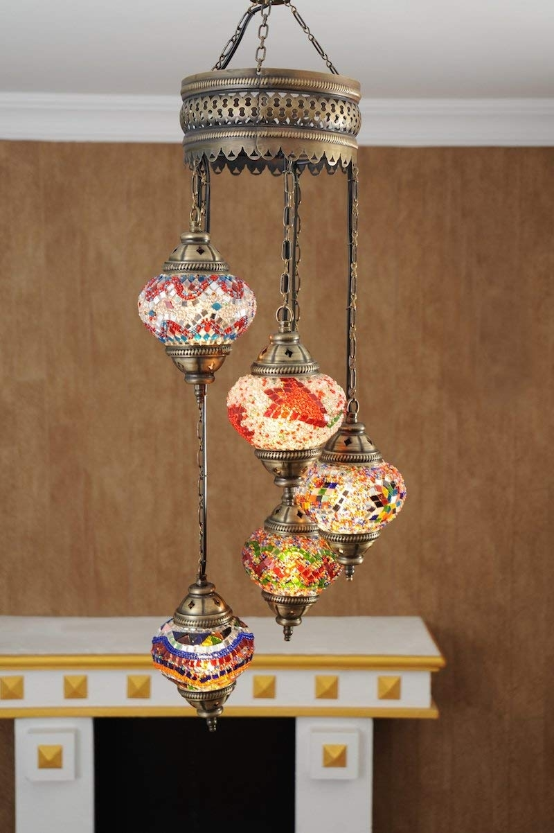 Mosaic Lamps, Turkish Lamp, Moroccan Lamps, Chandeliers, Pendant Within Outdoor Mosaic Lanterns (View 12 of 20)