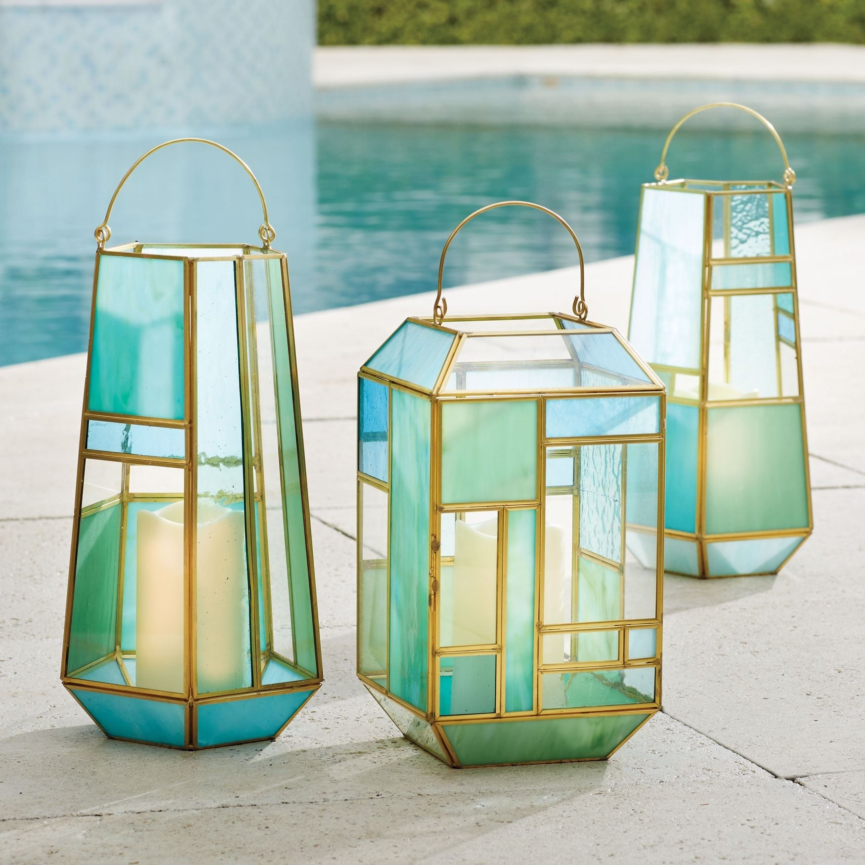 Mosaic Lanterns | Outdoor Lighting | Brylanehome Intended For Outdoor Mosaic Lanterns (View 14 of 20)
