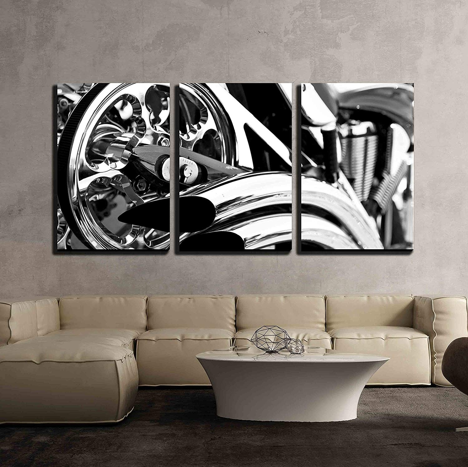 Motorcycle X3 Panels - Canvas Art | Wall26 inside Motorcycle Wall Art (Image 14 of 20)