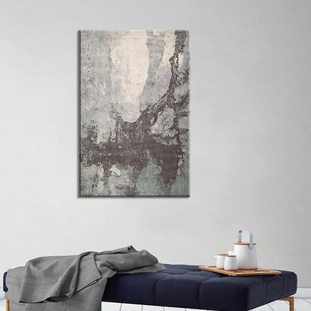 Mottled Cement Board Abstract Canvas Painting Wall Art Deco Drawings Throughout Art Deco Wall Art (View 18 of 20)