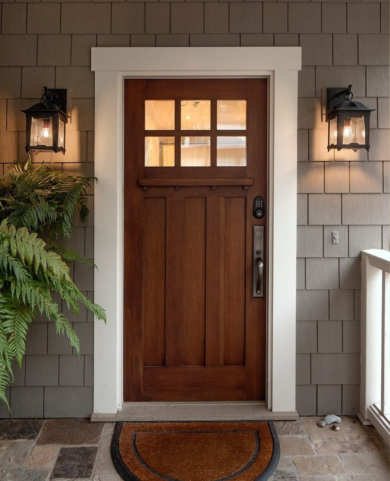 Mountain Style Front Door Ideas Exterior Craftsman With Coastal D intended for Outdoor Lanterns For Front Door (Image 15 of 20)