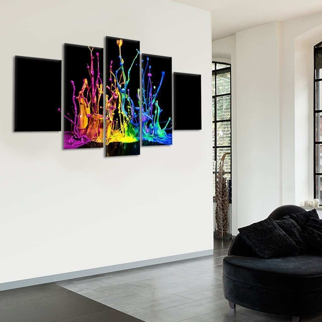 Multi Canvas Art Awesome Color Splash Multi Panel Canvas Wall Art with Multi Panel Wall Art (Image 12 of 20)