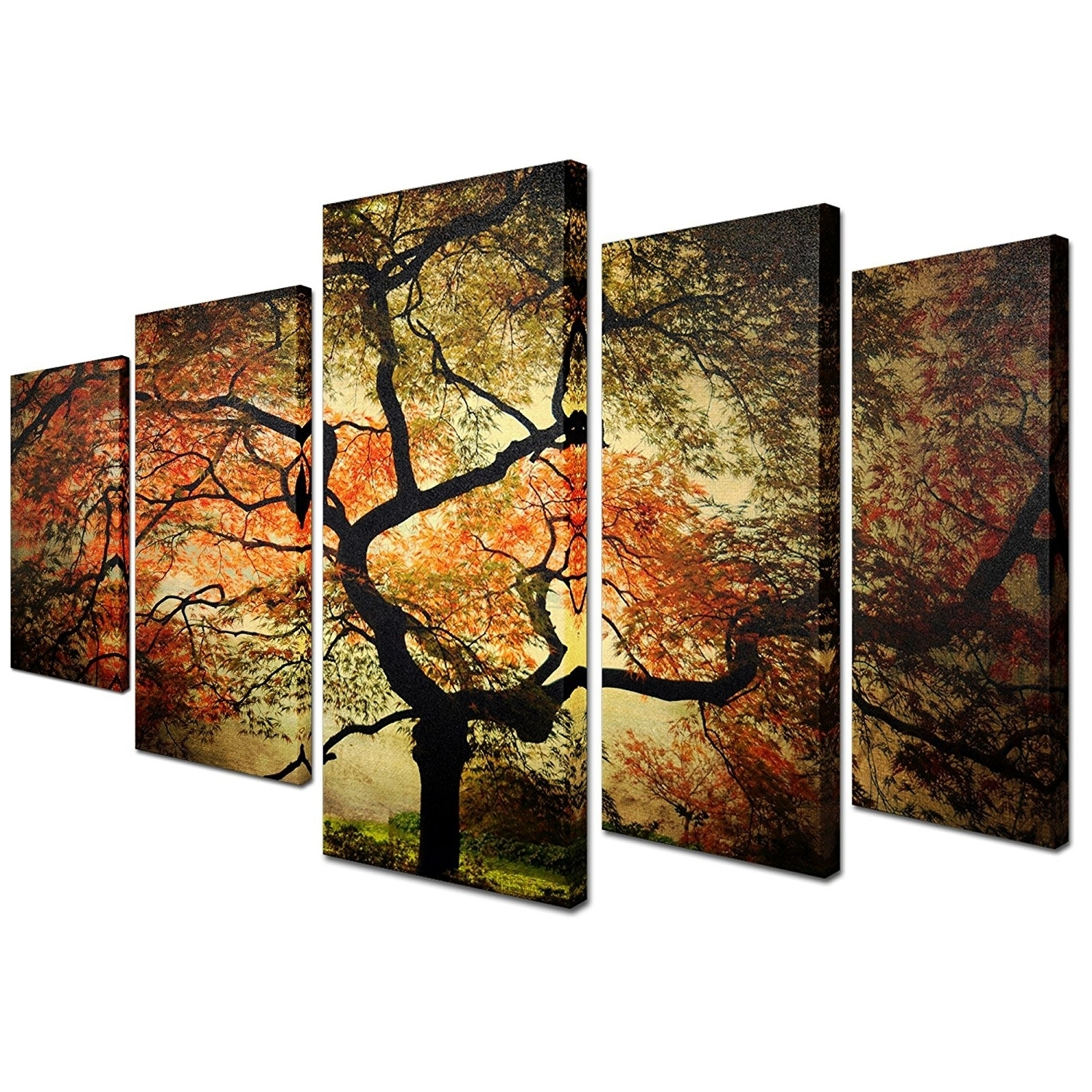 Multi Piece Canvas Wall Art In Amazon Trademark Fine Art Japanese with regard to Multi Piece Wall Art (Image 11 of 20)