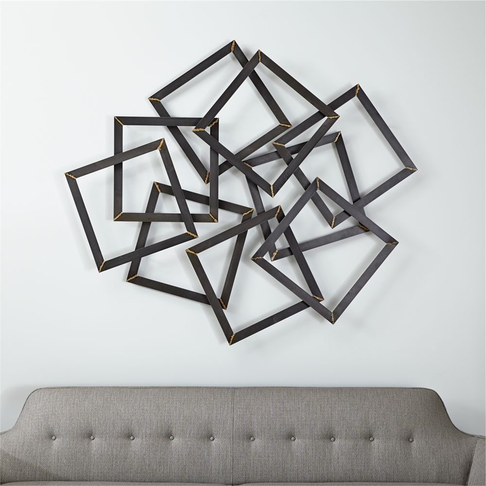 Multi Squares Wall Art - Crate And Barrel | Products | Pinterest pertaining to Crate And Barrel Wall Art (Image 13 of 20)