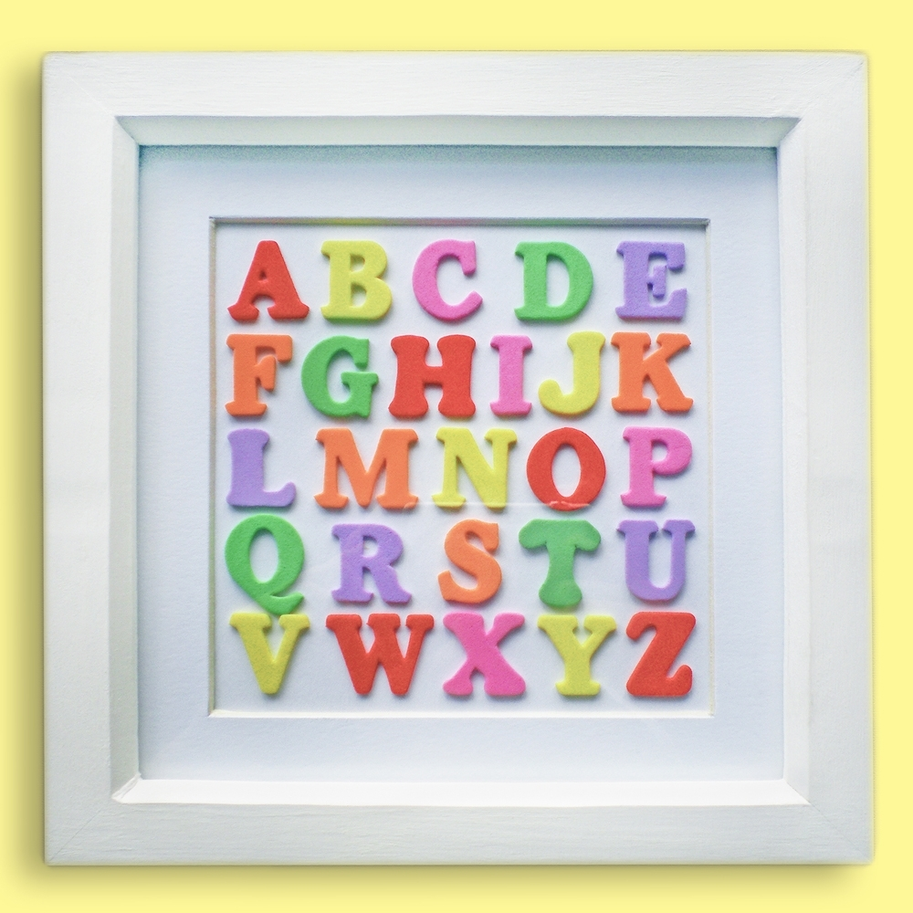 Multicoloured Alphabet Wall Art On Luulla within Alphabet Wall Art (Image 13 of 20)