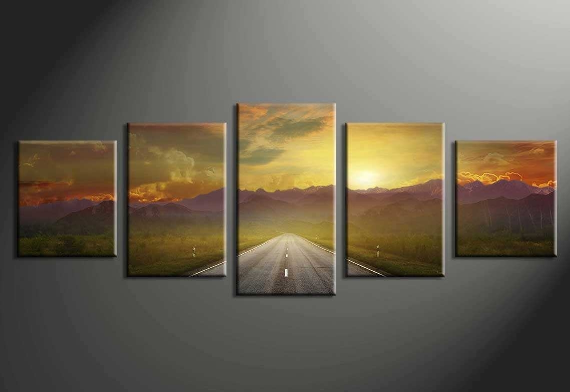Multiple Canvas Paintings Unique Multi Piece Canvas Wall Art With 5 with regard to Multi Piece Wall Art (Image 15 of 20)