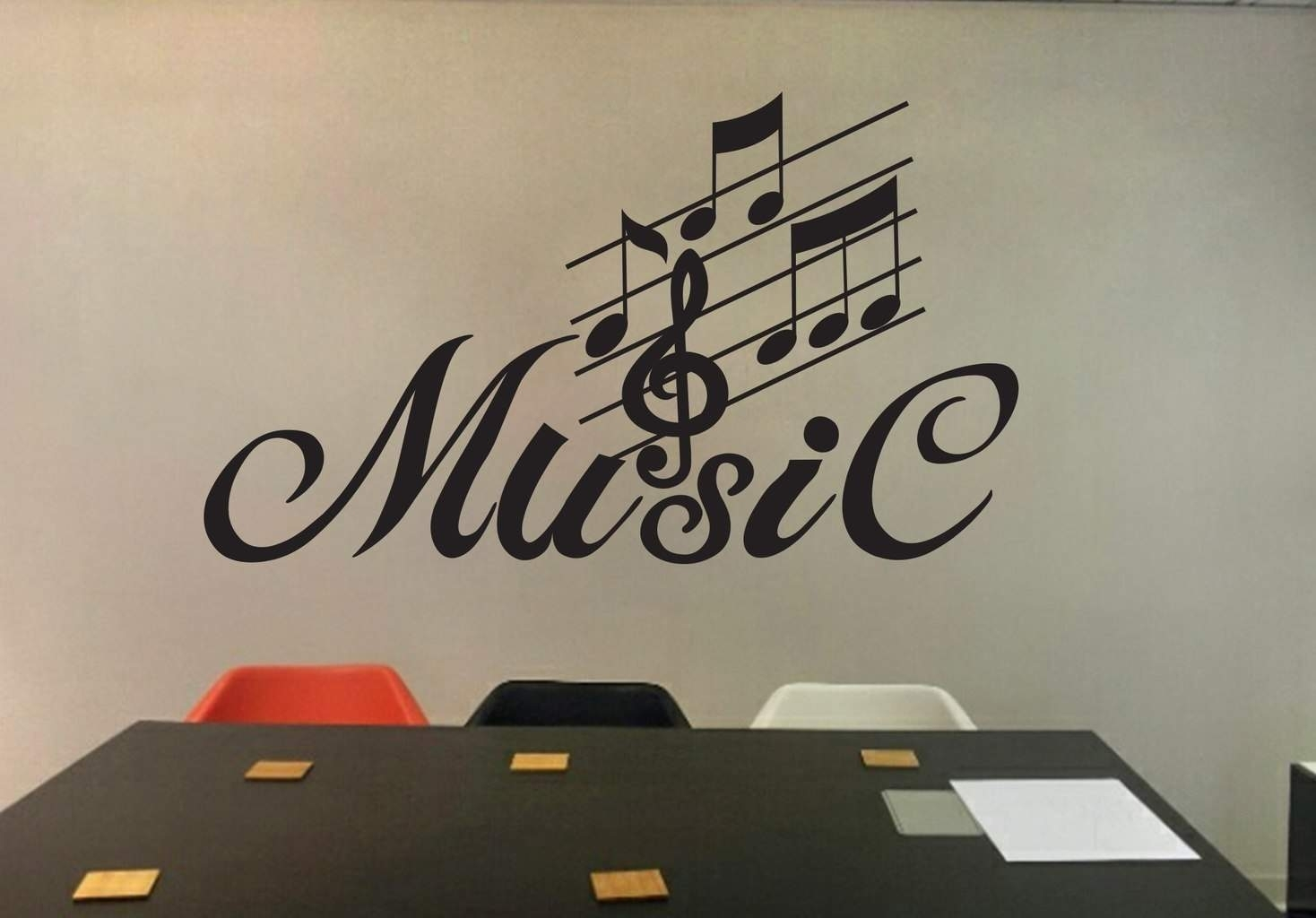 Music Wall Art Decal | Wall Decal | Wall Art Decal Sticker with regard to Music Wall Art (Image 7 of 20)