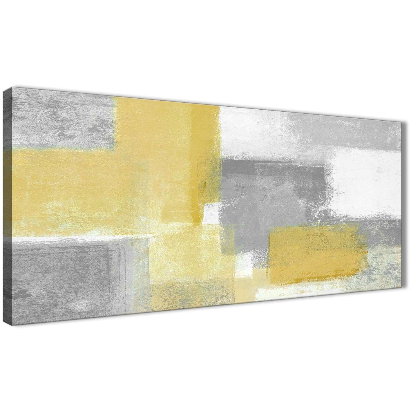 Mustard Yellow Grey Living Room Canvas Wall Art Accessories Regarding Yellow And Gray Wall Art (View 13 of 20)