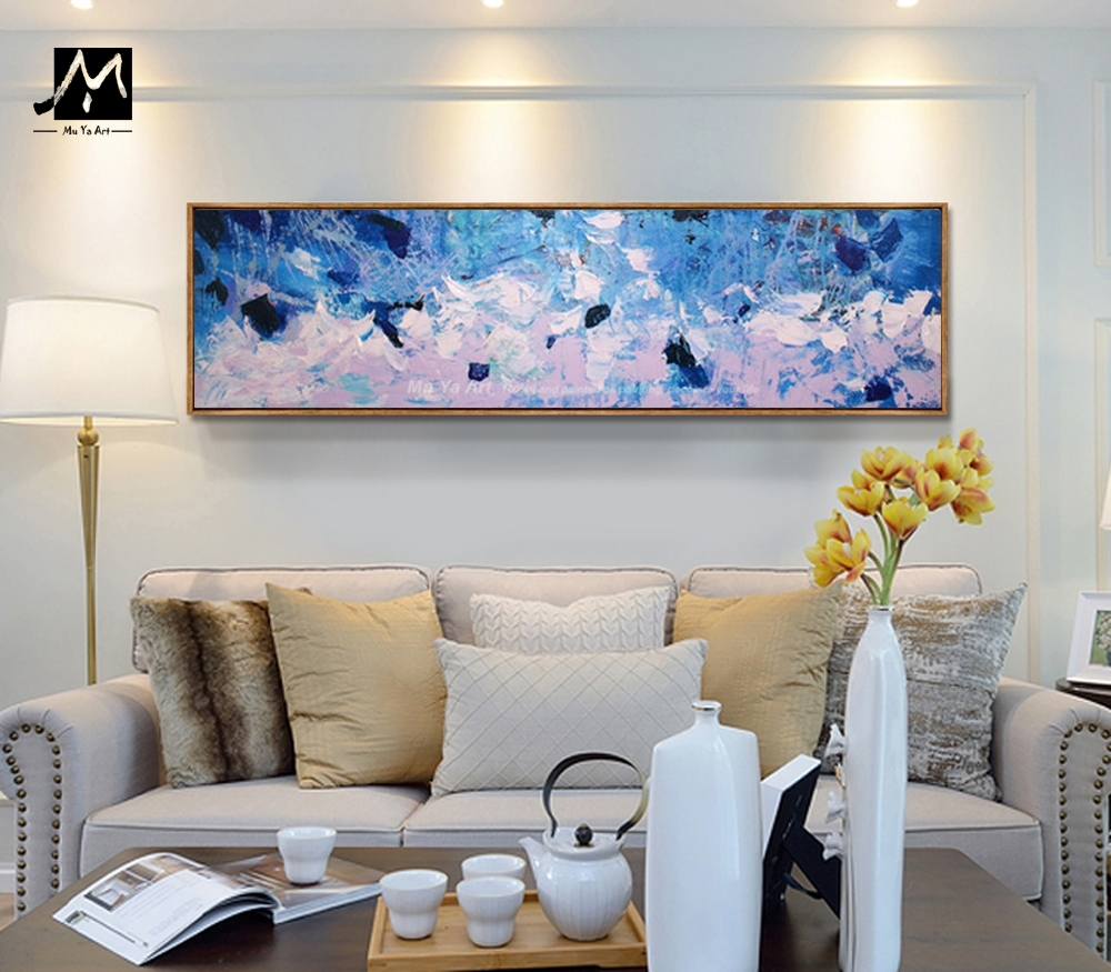 Muya Hand Painted Extra Large Art Modern Abstract Painting within Contemporary Wall Art (Image 15 of 20)