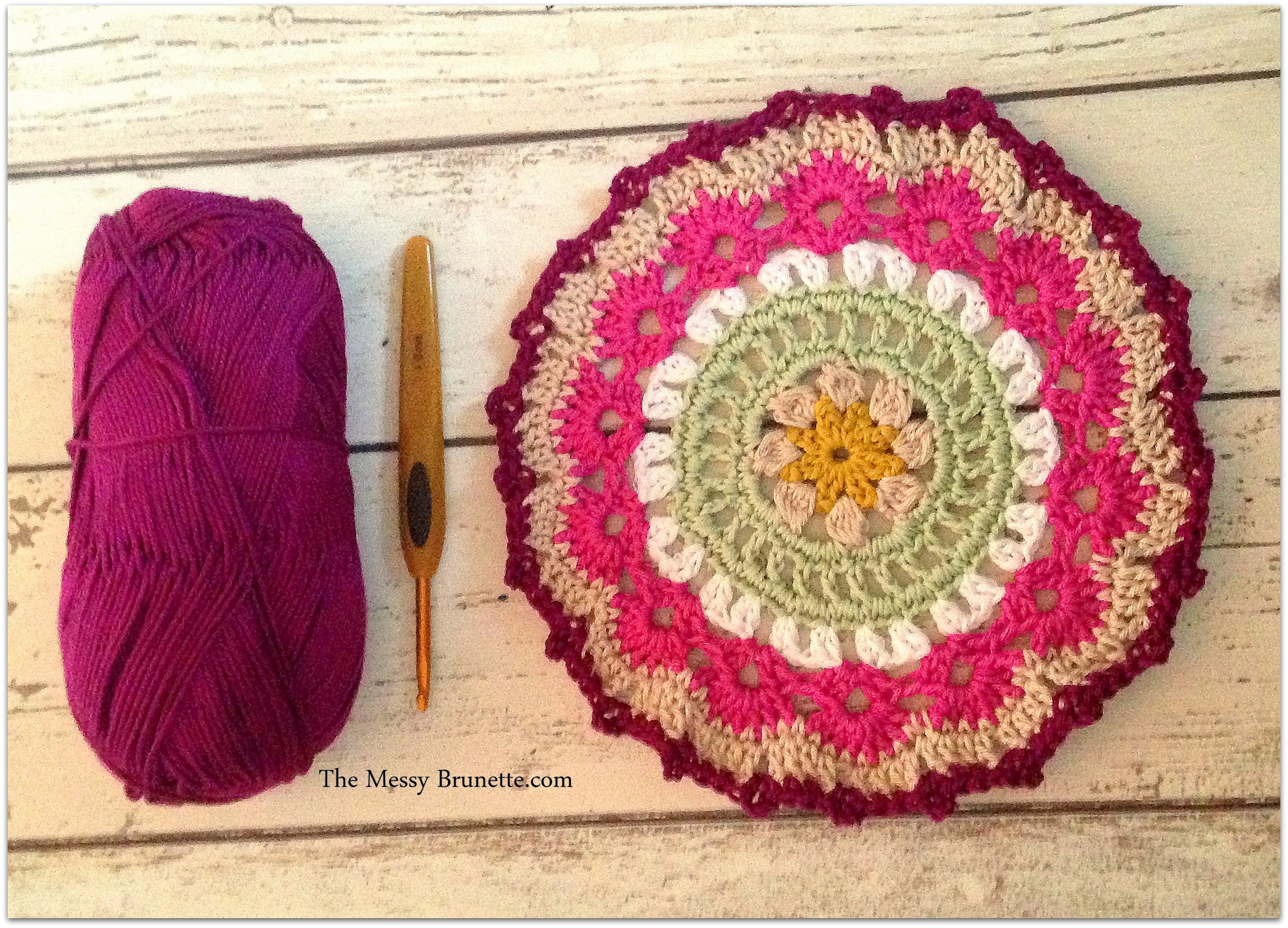 My Crochet Mandala Wall Art – The Messy Brunette for Crochet Wall Art (Image 17 of 20)