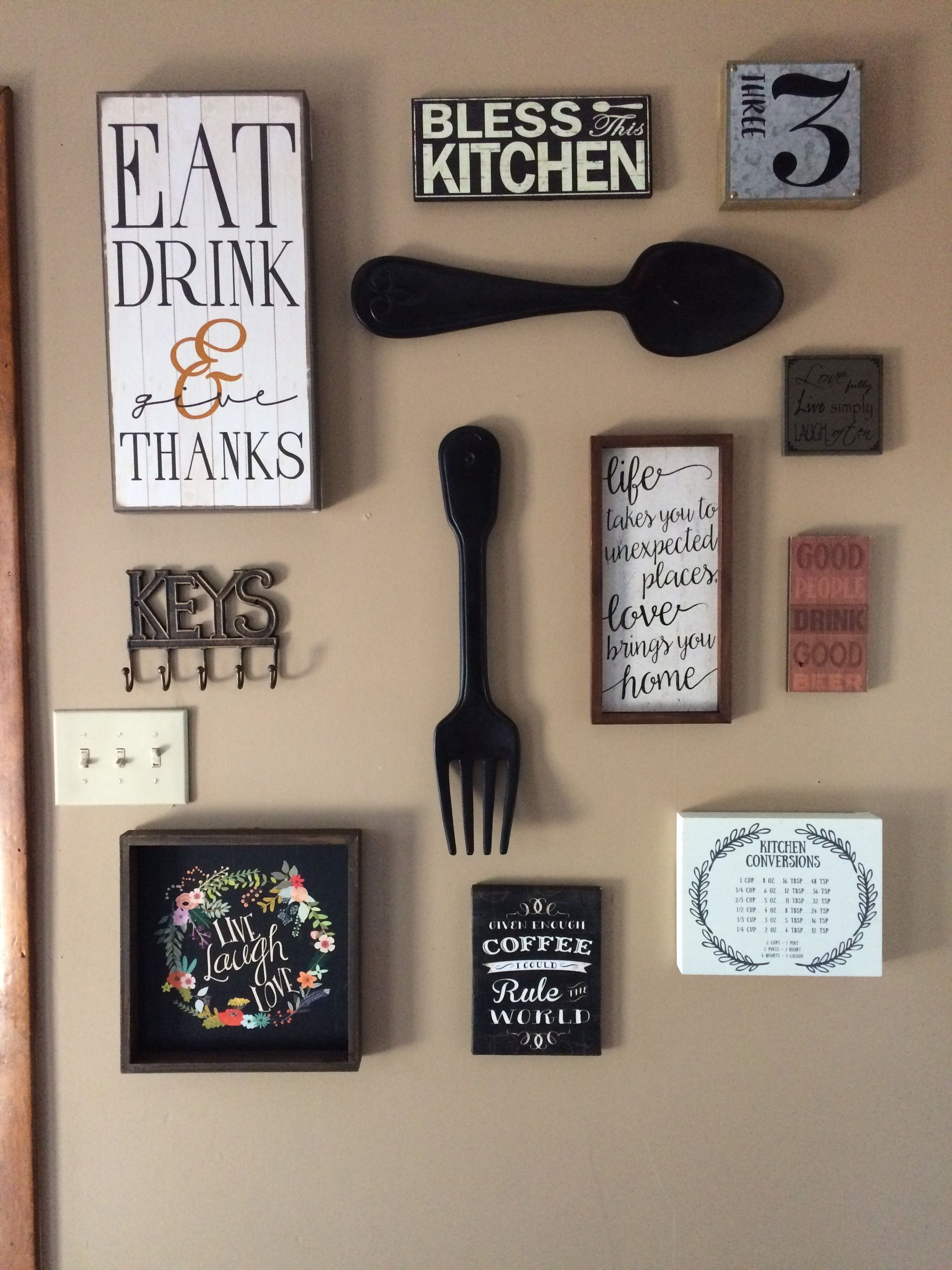 My Kitchen Gallery Wall (View 5 of 20)