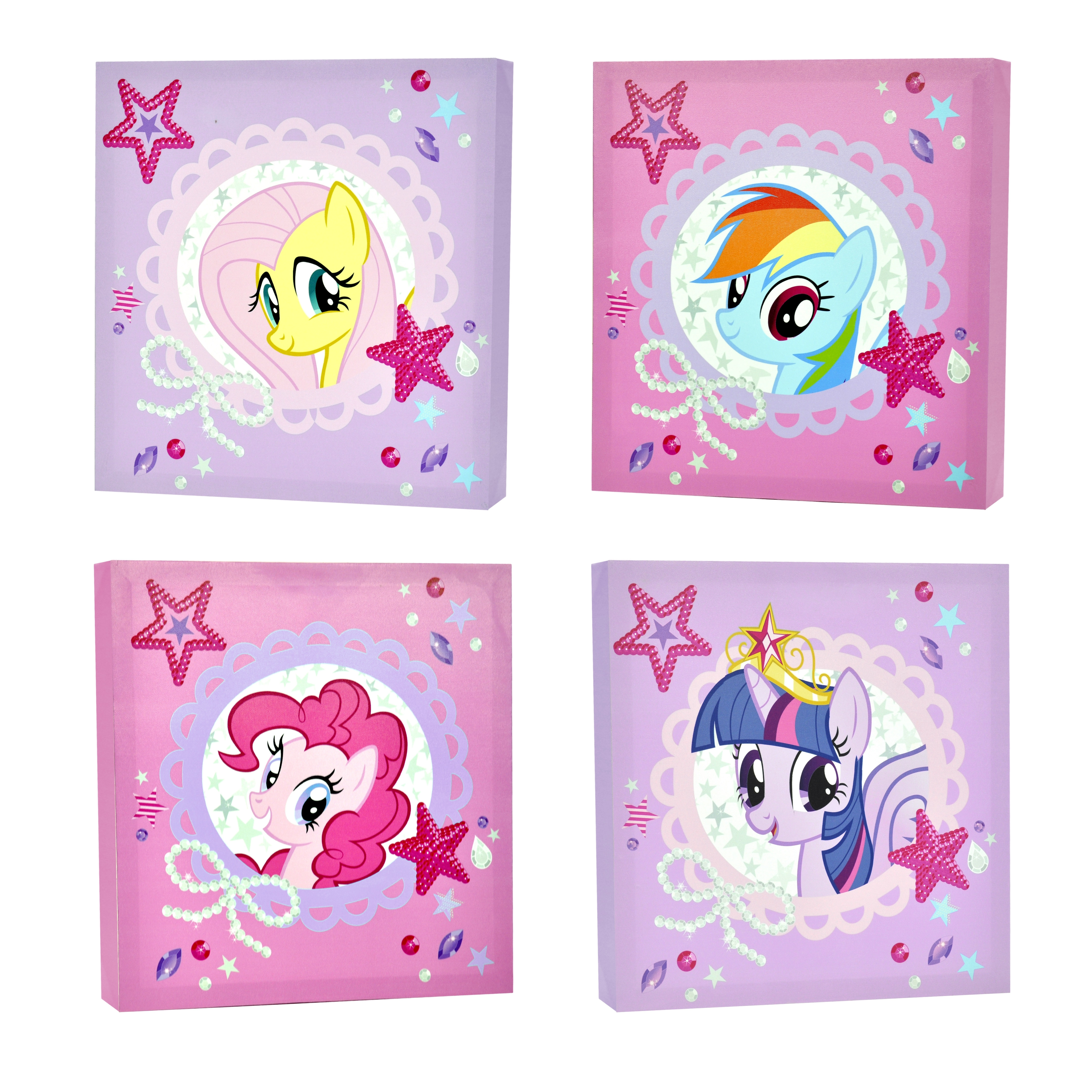 My Little Pony 4-Piece Canvas Wall Art - Walmart with regard to My Little Pony Wall Art (Image 5 of 20)
