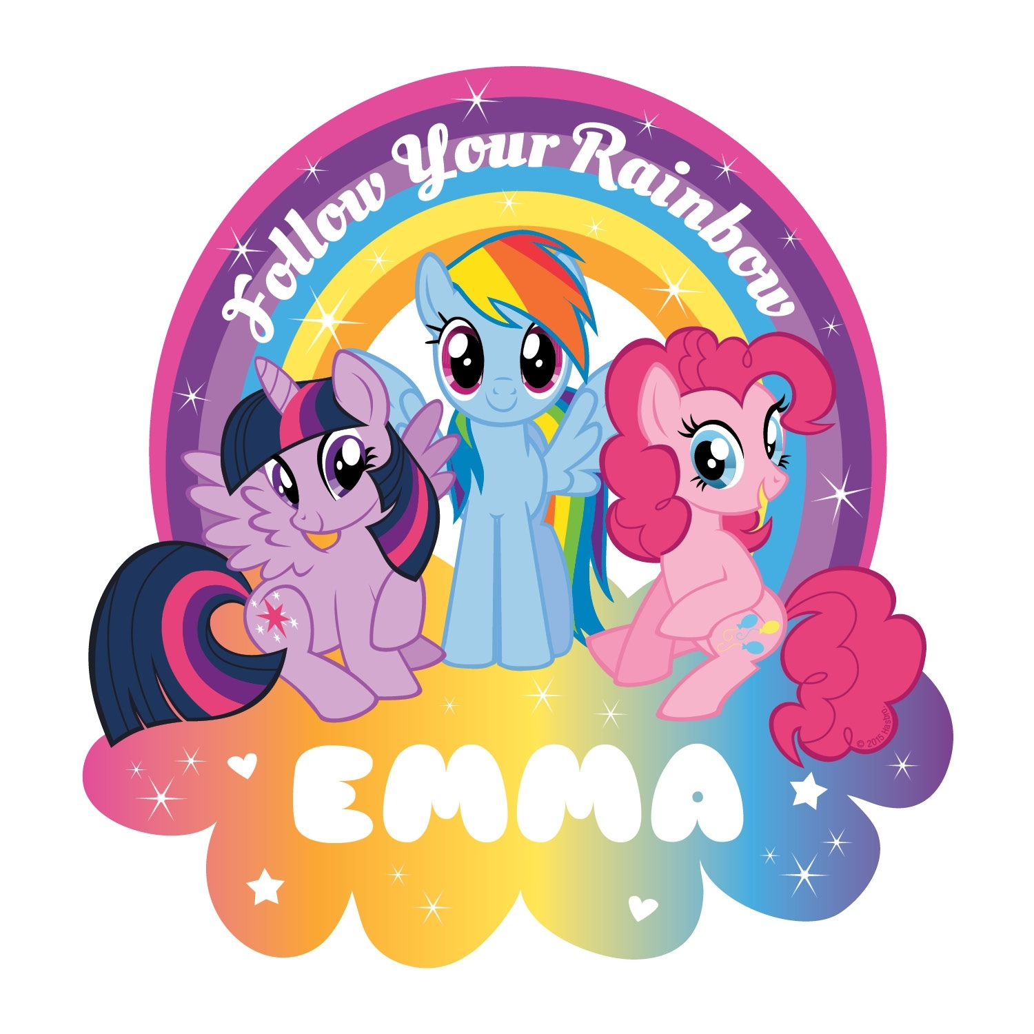 My Little Pony Follow Your Rainbow Easy-Move Canvas Decal | Tv's Toy Box intended for My Little Pony Wall Art (Image 6 of 20)
