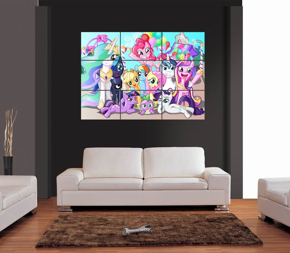 My Little Pony Giant Wall Art Print Picture Poster | Ebay inside My Little Pony Wall Art (Image 7 of 20)